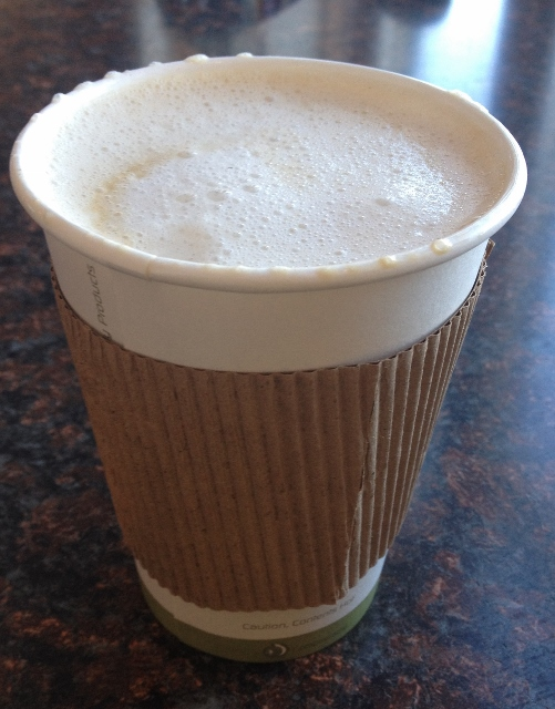 coconut sugar sweetened chai with hemp milk New World Cafe