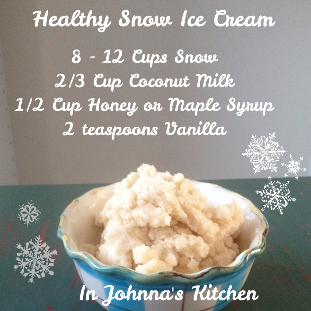 Healthy Snow Ice Cream | In Johnna's Kitchen
