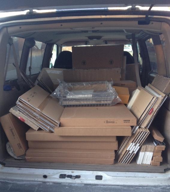 IKEA cabinets in van