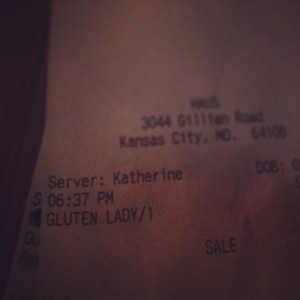 "Soften Saturday: Notes on Dining Out from ""Gluten Lady"""