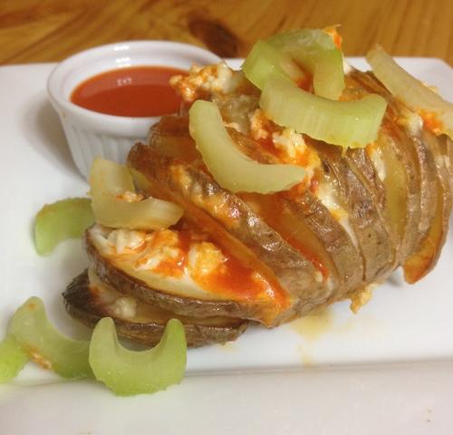 Buffalo Hasselback Potatoes (dairy-free & gluten-free)