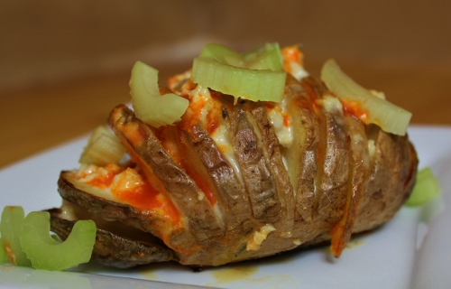 Buffalo Hasselback Potatoes | In Johnna's Kitchen