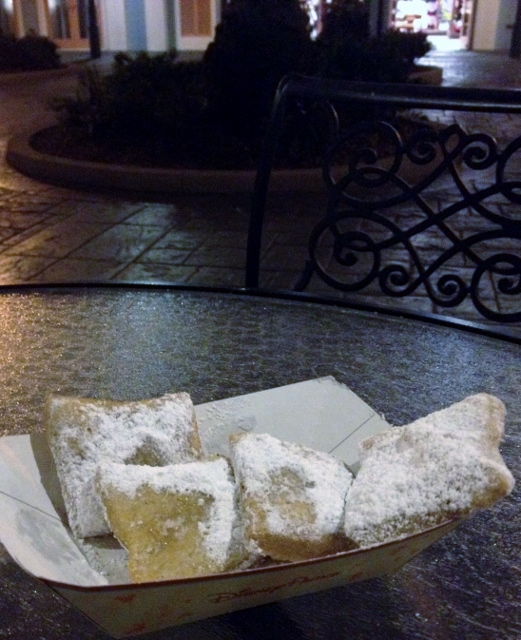 beignets outside at sassagoula