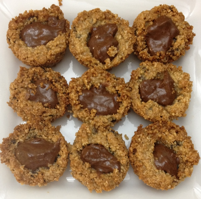 Mini Chocolate Chip Nutella Cookie Cups - In Johnna's Kitchen