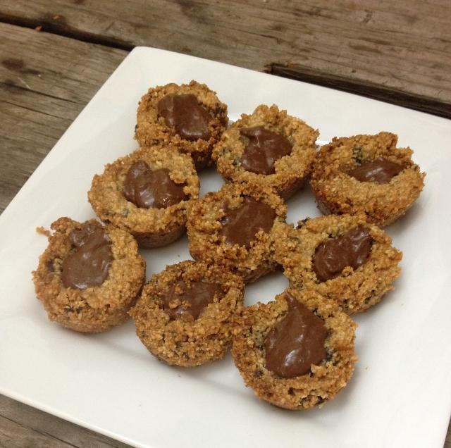 Mini Chocolate Chip Nutella Cookie Cups   In Johnna's Kitchen