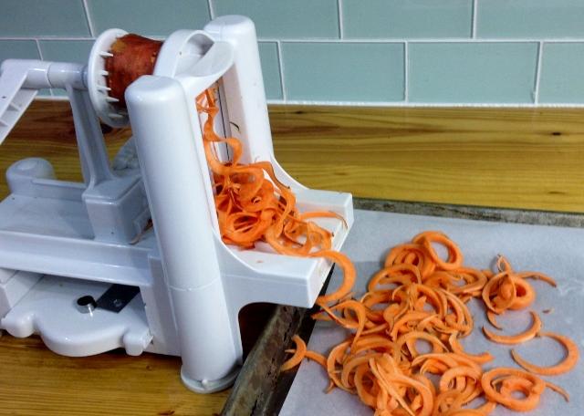 spiralized sweet potatoes | In Johnna's Kitchen