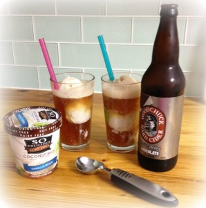 Chocolate Hard Cider Float