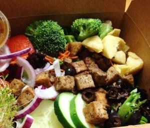 Ethos Garden Salad with Grilled Tofu