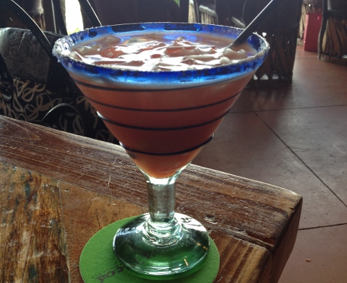 Blood Orange Margarita at Rocco's Tacos