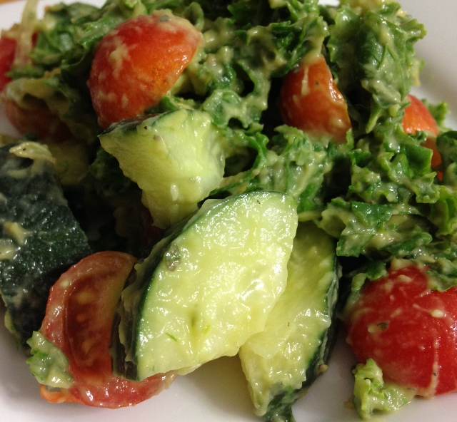 Avocado Kale Salad, Quick & Easy for Summer!