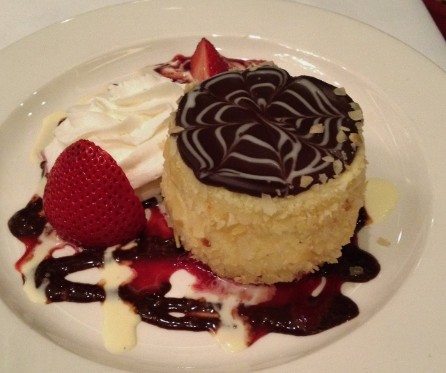 Boston Cream Pie at Parker House (not gluten-free)