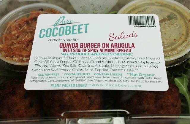 CocoBeet Quinoa Burger