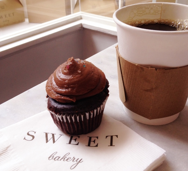 Cupcake and Coffee at Sweet Boston