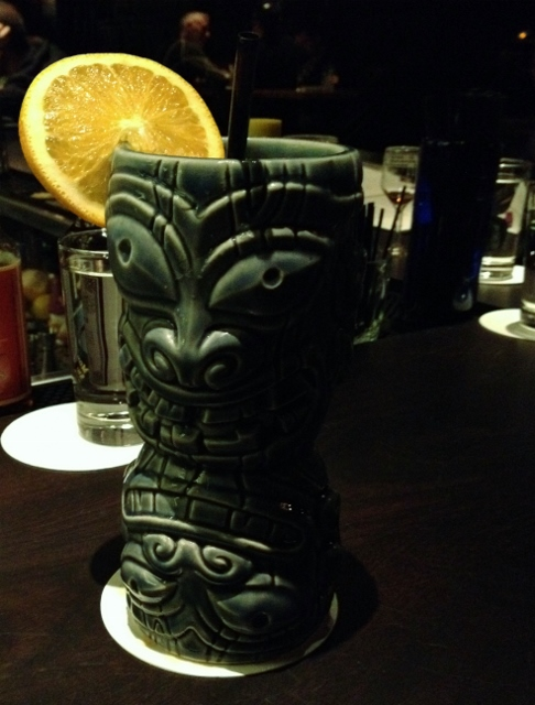 Wink and Nod tiki glass