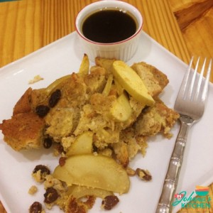 Cinnamon Raisin Apple French Toast Casserole