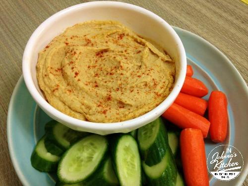 Basic Hummus with Veggies   In Johnna's Kitchen