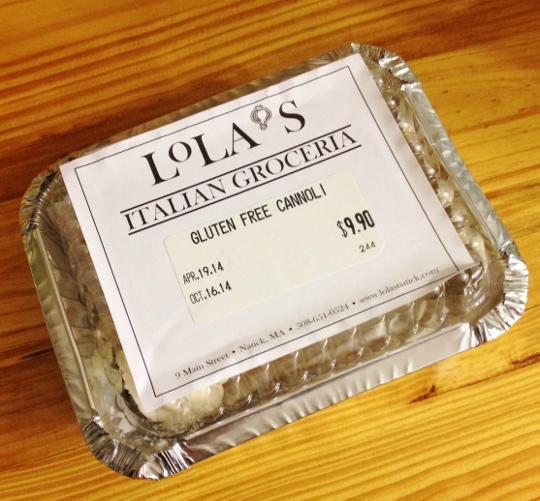 Lola's Gluten-Free Cannoli
