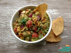 Roasted Pineapple and Bacon Guacamole, oinkless