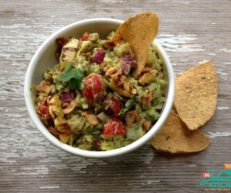Roasted Pineapple and Bacon Guacamole | In Johnna's Kitchen