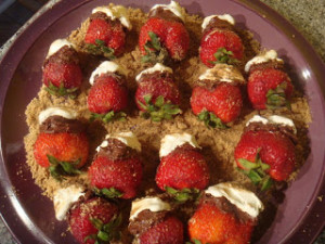 smores stuffed strawberries