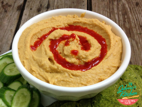 Sriracha Hummus | In Johnna's Kitchen