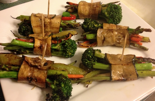 Grilled Zucchini Bundles
