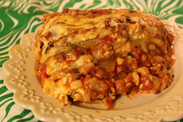Deep Dish Zucchini Crockpot Lasagna