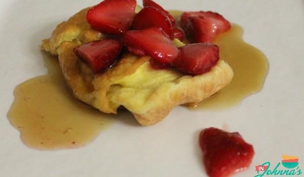 Dutch Baby/German Pancake for Two (gluten-free, dairy-free, grain-free, Paleo)