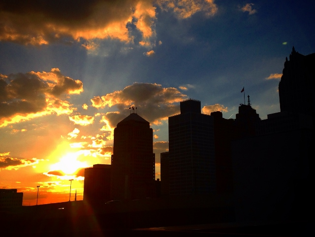 Sunset, Detroit