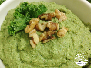 Walnut Kale Hummus | In Johnna's Kitchen