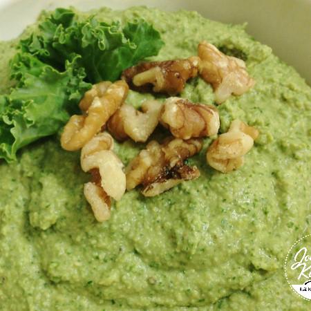 Walnut Kale Hummus | In Johnna's Kitchen