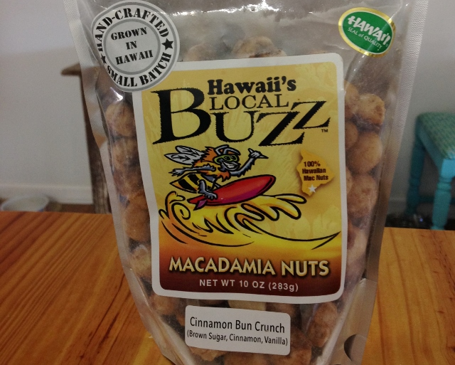 Cinnamon Bun Crunch Macadamias from Hawaii's Local Buzz