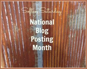 Soften Saturday: National Blog Posting Month