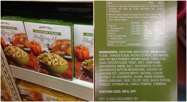 Gluten-Free Stuffing Mix at Trader Joe's