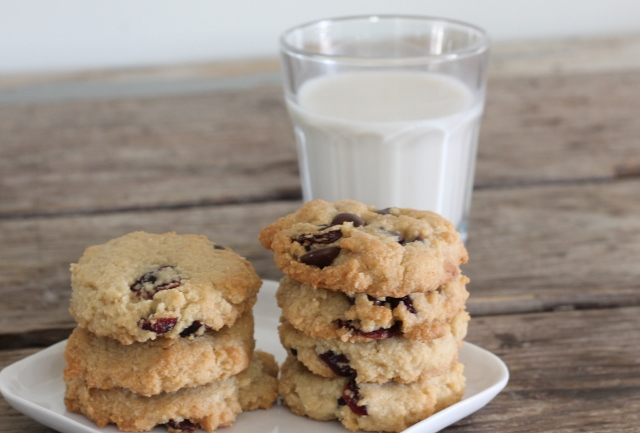 Almond Chocolate Cranberry Cookies | In Johnna's Kitchen
