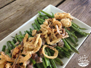 Green Bean Casserole, gluten-free, dairy-free and vegan | In Johnna's Kitchen