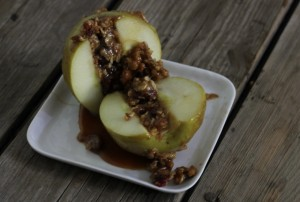 Baked Stuffed Apples for two; gluten-free, dairy-free, vegan