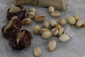 Pistachios with dates and aged cheese | In Johnna's Kitchen