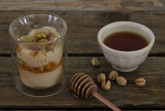 Pistachio, Yogurt and Honey Parfait | In Johnna's Kitchen