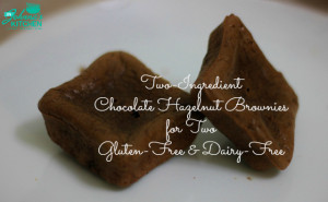 Chocolate Hazelnut Brownies for Two | In Johnna's Kitchen