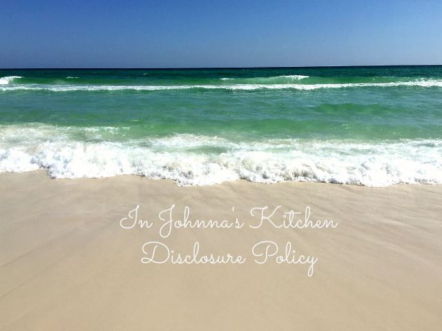 Disclosure Policy | In Johnna's Kitchen