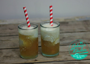 Bourbon Ginger Beer Floats (gluten-free, dairy-free, vegan)
