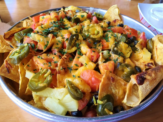 Gluten-Free Vegetarian Nachos, Lulu's at Homeport Marina