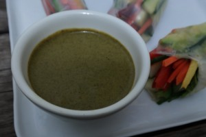 Cilantro Peanut Dipping Sauce | In Johnna's Kitchen