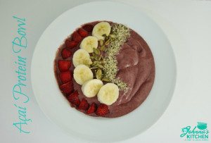 Açaí Protein Bowl (gluten-free, dairy-free, vegan)