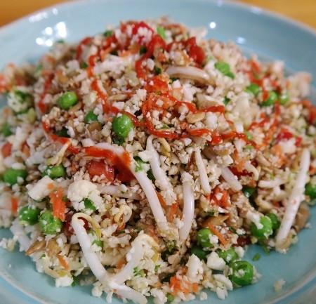 Cauliflower Fried Rice | In Johnna's Kitchen (gluten-free, grain-free, raw vegan, paleo)