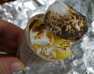 Campfire Cones, A New-Fangled Twist on S'mores