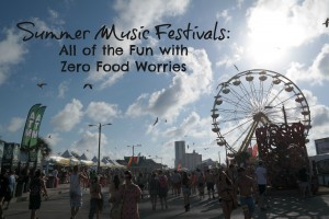 Summer Music Festivals, how to eat safe with food intolerances and allergies