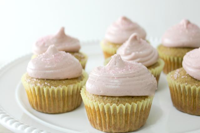 Meyer Lemon Raspberry Cupcakes, gluten-free & dairy-free | In Johnna's Kitchen