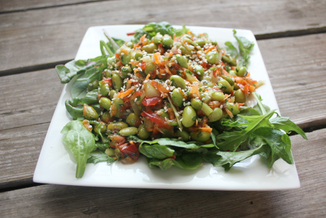 Asian Edamame Salad | In Johnna's Kitchen